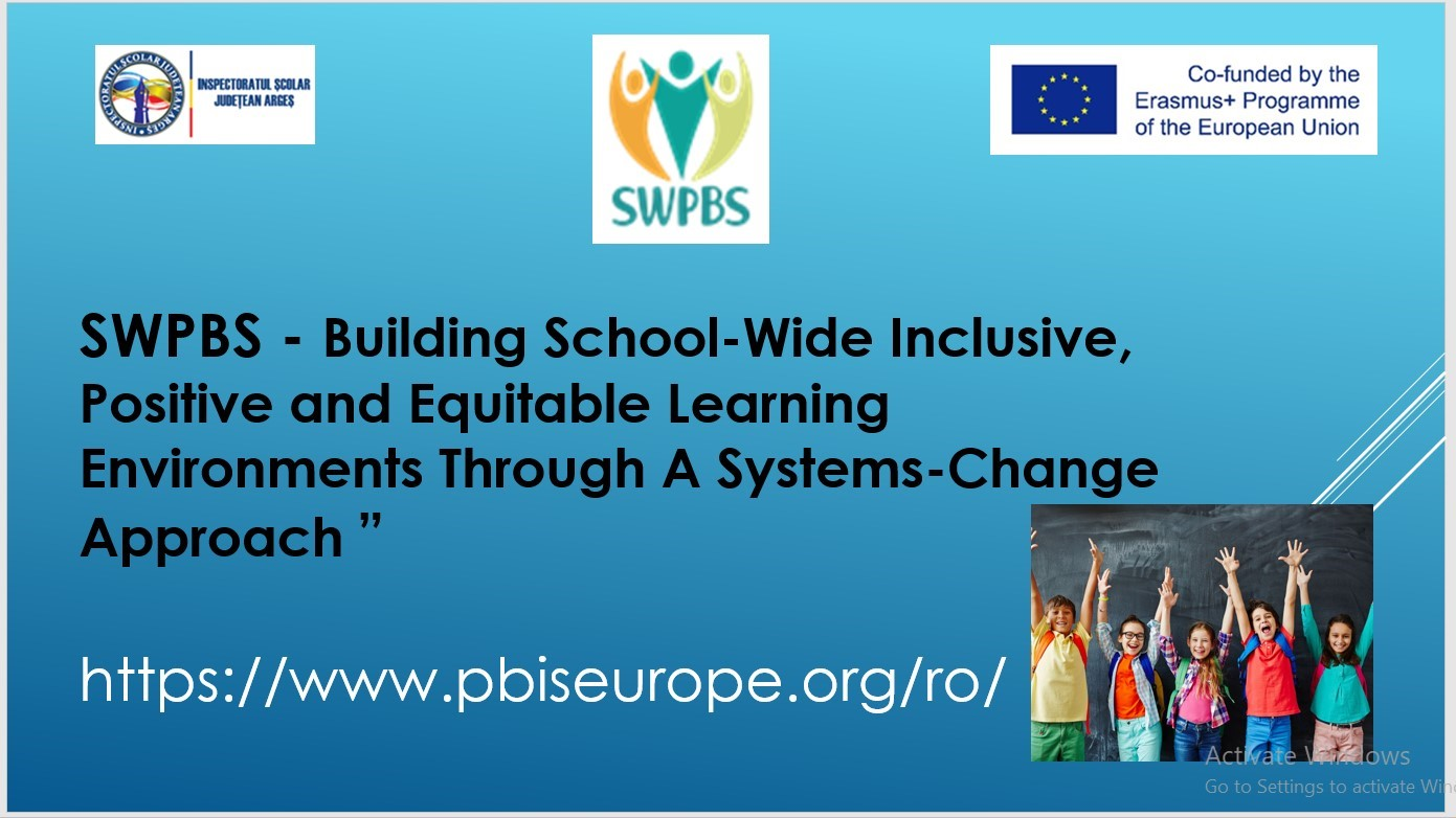 SWPBS presented at the Arges county primary School Teachers' Meeting